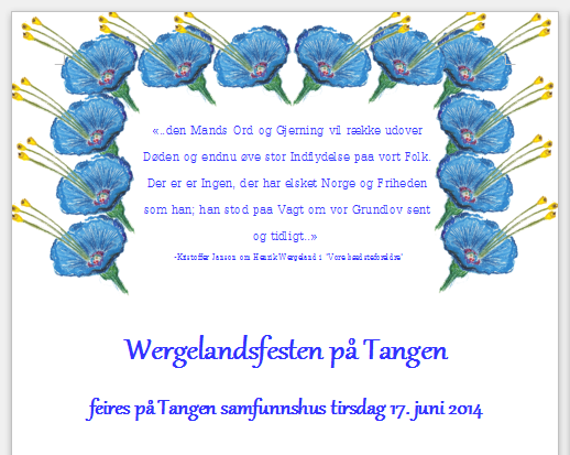 Program for 17. juni 2014 - klikk for PDF